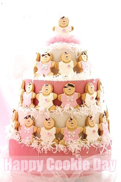 Baby Shower Cookie Tower