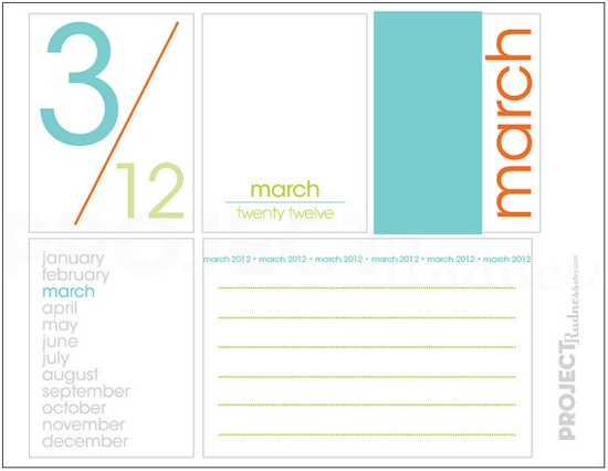 MARCH project life modern scrapbooking by projectradness on Etsy, $2.00 #projectlife