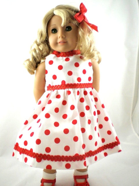 American Girl Doll Dress Party Dress White with by DollFashions, $10.00