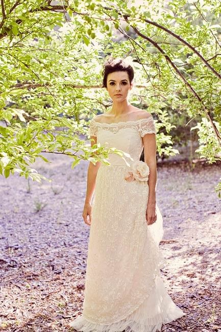 romantic, old-fashioned wedding gown
