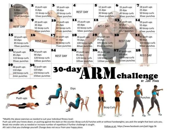 Mountain Climber 30 Day Challenge 30 Day Arm Challenge