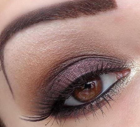 Night magic - a fabulous subtle smokey eye!  #eyes #eye #makeup #smokey #neutral #gold  #dramatic