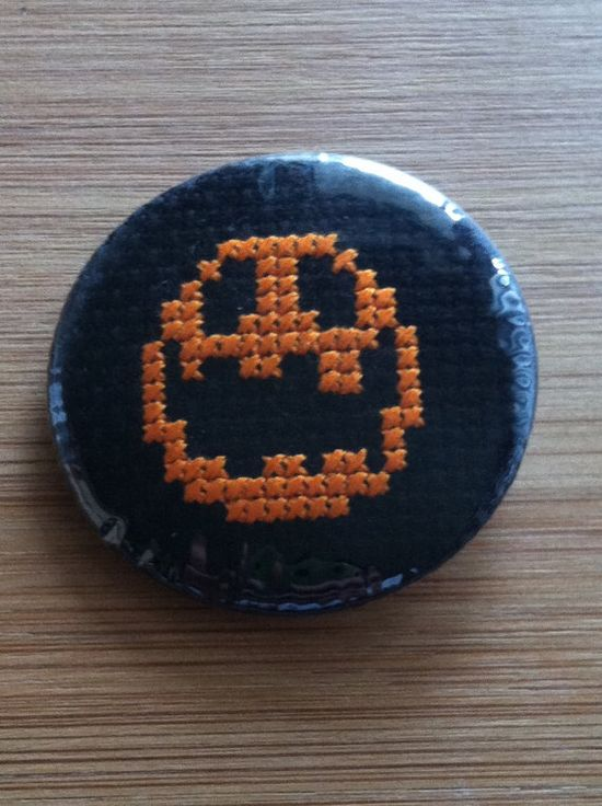 Jack 'o' Lantern Pumpkin Halloween Cross Stitch by GeekyButtonGuy, $15.00 on Etsy