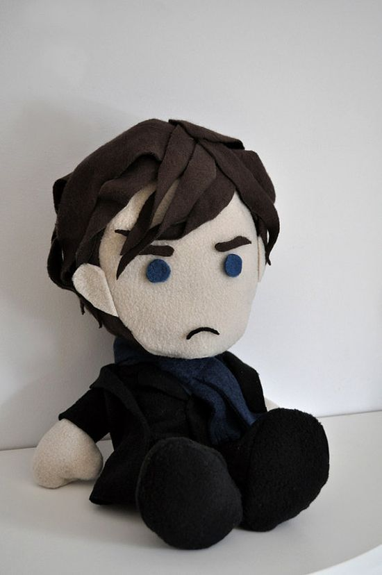 BBC's Sherlock Holmes Plushie :D  #Sherlock #Holmes #Sherlockholmes #Watson #Johnwatson #Benedictcumberbatch #BBCsherlock #cumberbatch #Martinfreeman #Geekery #nerd #cute #Johnwatson #handmade #plushie #221B #Sherlocked