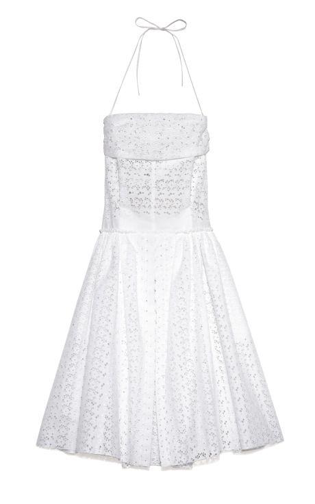 Broderie Anglaise Dress by Nina Ricci for Preorder on Moda Operandi