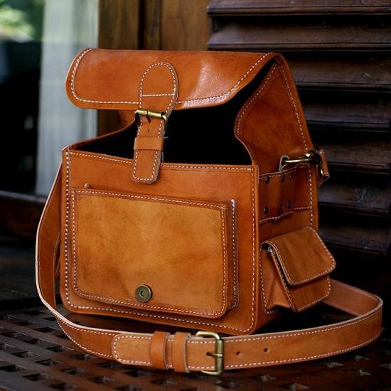 Leather camera bag!