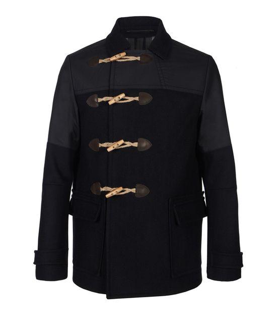 Cadogan Duffle Coat, Men, Outerwear, AllSaints Spitalfields $295