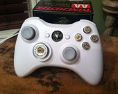 Xbox 360 bullet buttons 9mm rounds handmade handcrafted handgun geekery bullets video games call of duty. $14.98, via Etsy.
