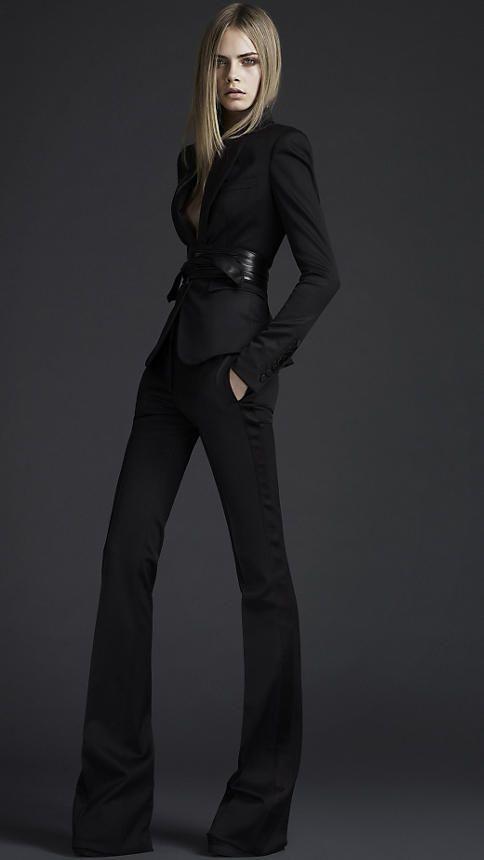 Burberry -- Classic suit.