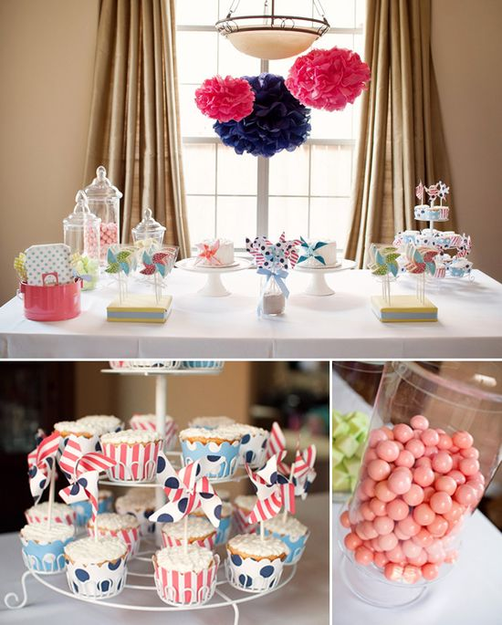 Pinwheel Party! {First birthday celebration for twins)
