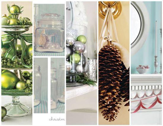 5 simply pretty holiday decor ideas #diy #tutorial #christmas