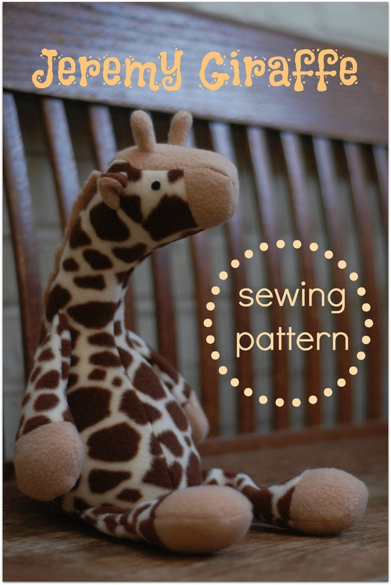Jeremy Giraffe - PDF Sewing Pattern with Easy to follow step-by-step directions. $9.00, via Etsy.