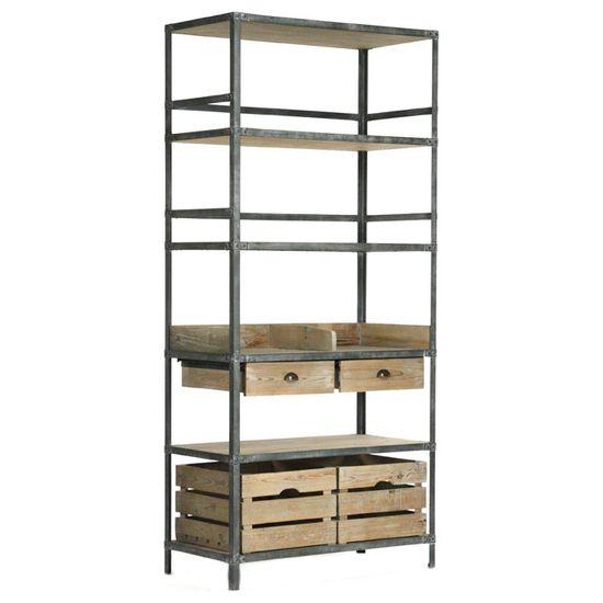 Zentique Arley Rack @Zinc_Door #shelving #industrial #zincdoor #bookshelf