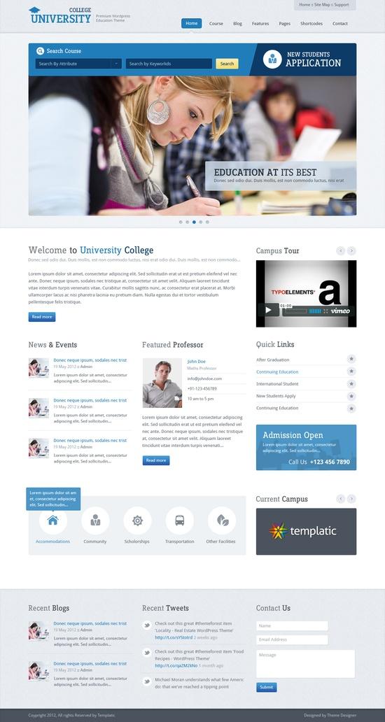 Education web design wordpress