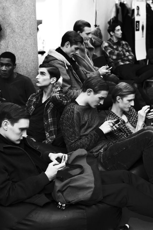 Chairs and texting andAlexander Ferrario