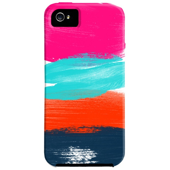 Brushstrokes iPhone 5 Case  I could probably do a diy version of this for my ipod with a blank case...
