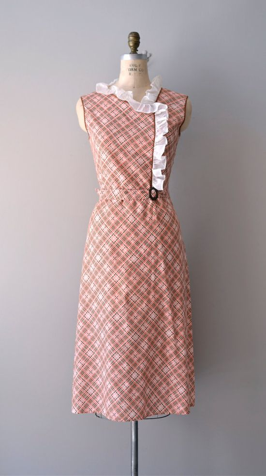 vintage 1930s dress Shilly-Shally dress     #vintage #vintagedress #1930s