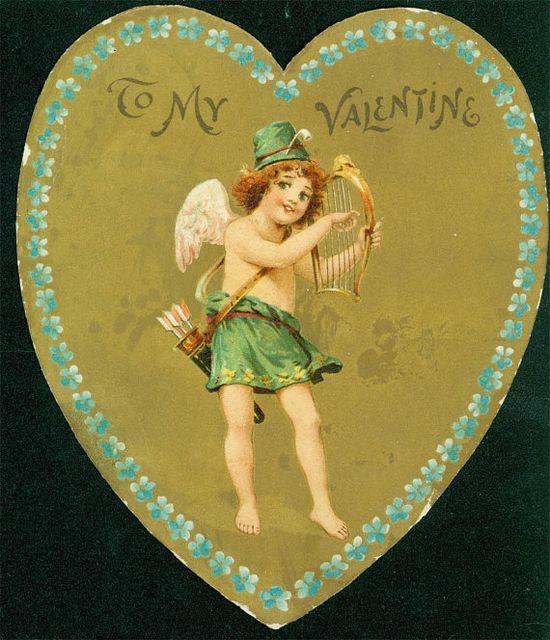Valentine Cupid Irish Shamrock