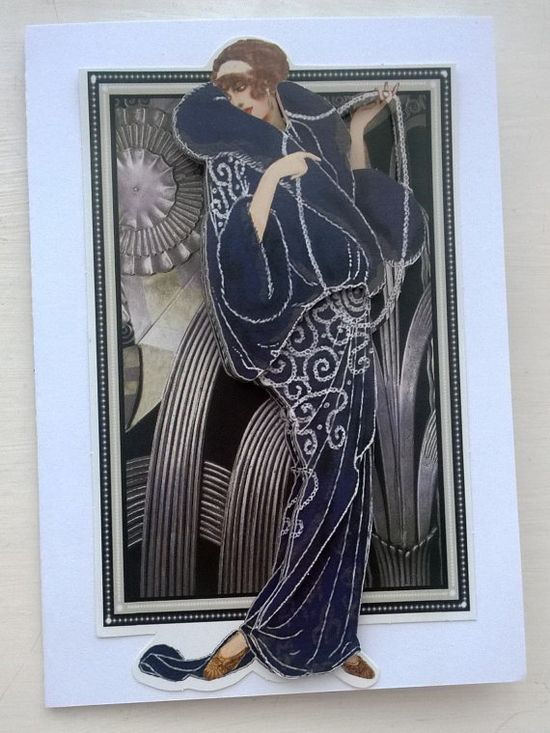 Handmade Card in the style of the 20's era in by SendingWishes, £2.00