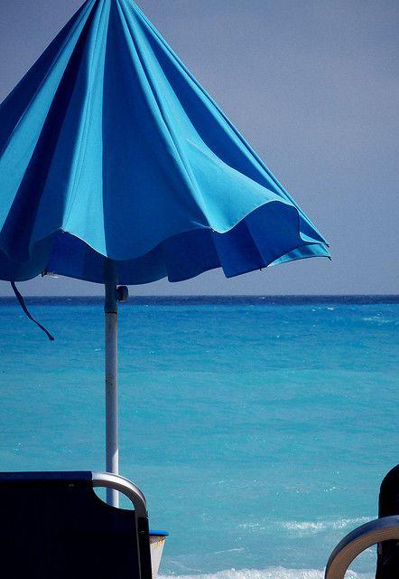 Blue at the beach