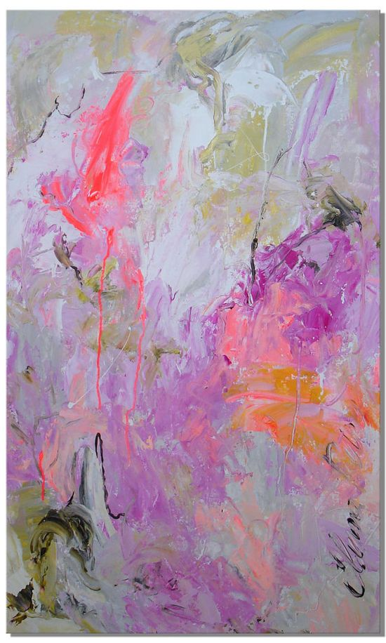 ELENA abstract painting original contemporary art 40x24, $249.00