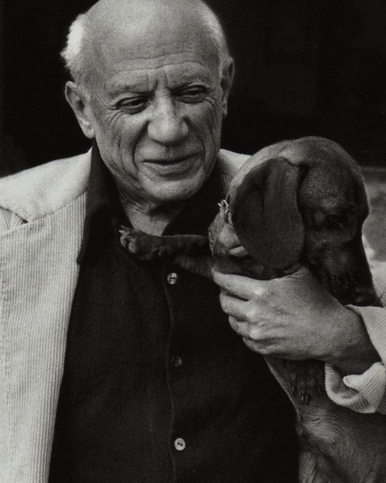 Pablo Picasso and dachshund, Lump