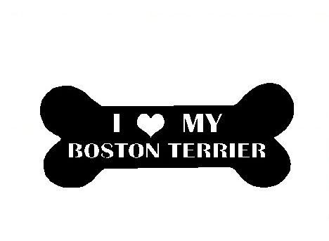 I Love My Boston Terrier Decal Cute Pet Window by DressXpress, $3.49