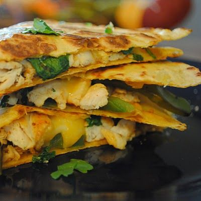 I'm obsessed with chicken quesadillas right now!