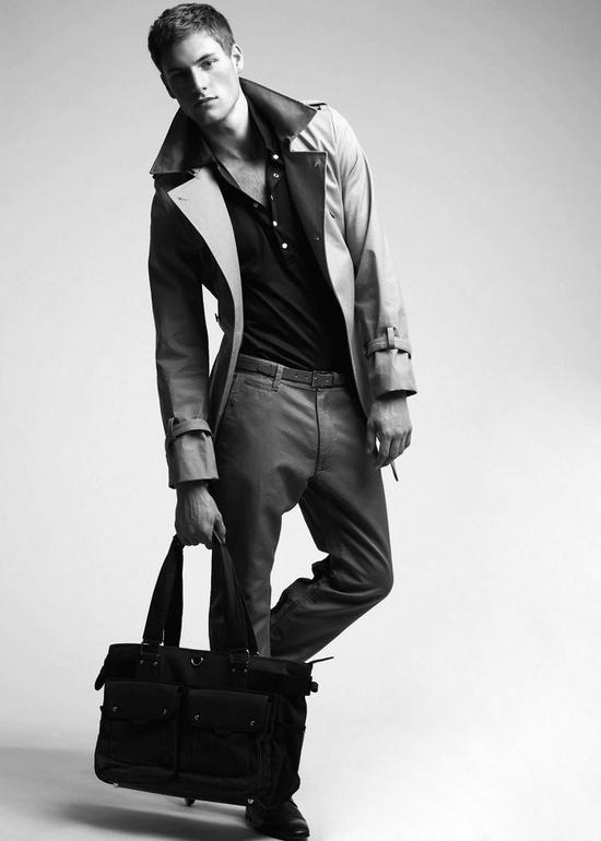 Henley + coat.  #fashion  #mens  #blackandwhite