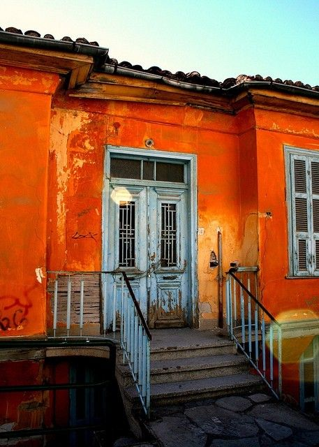 Orange house exterior house color