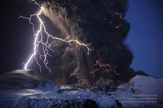Eyjafjallajokull glacier in Iceland