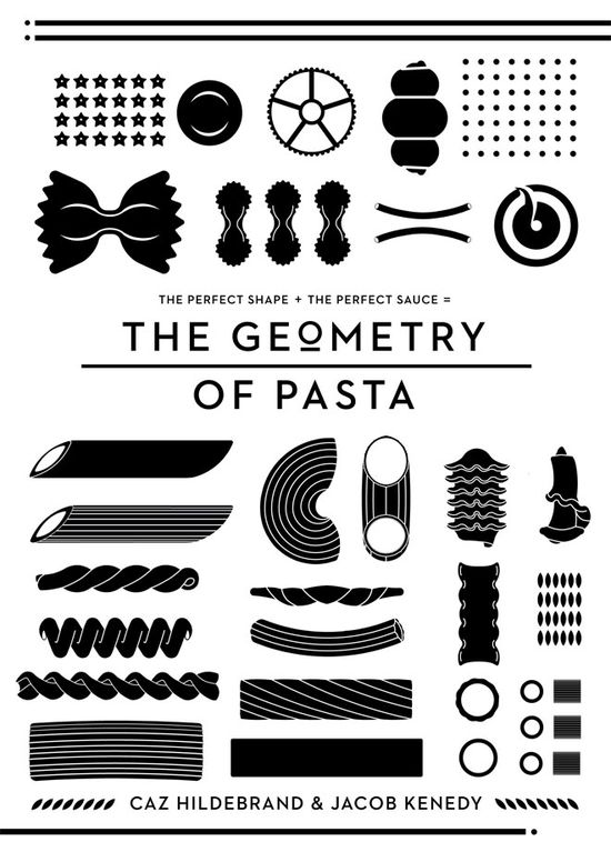 "Book cover for ""the Geometry of Pasta"""