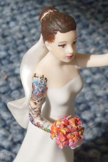 DIY inked-up cake topper!