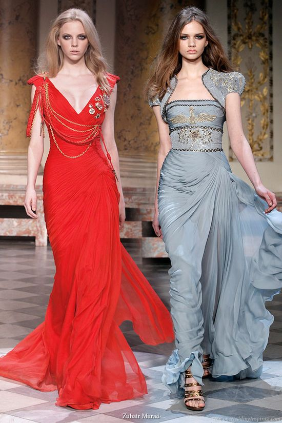 *Red and blue couture evening dress ?*