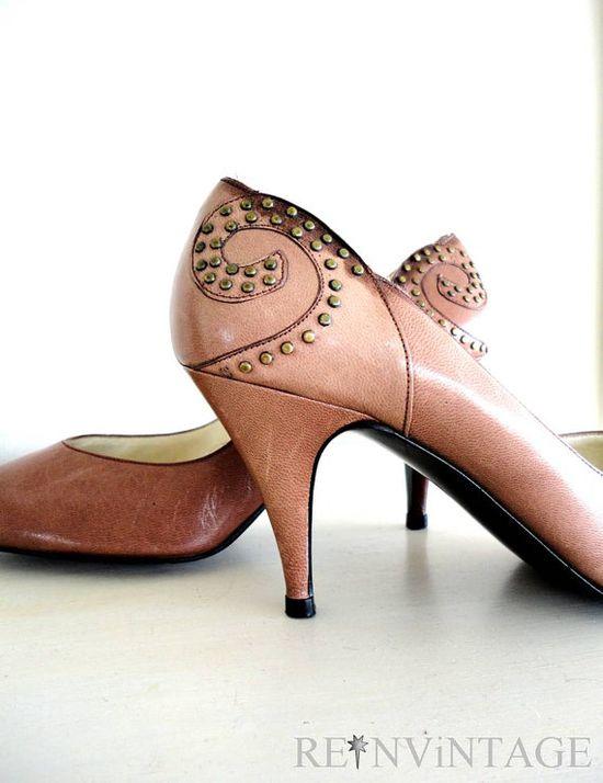 Vintage stud heels