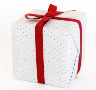confetti gift wrap. #splendidholiday