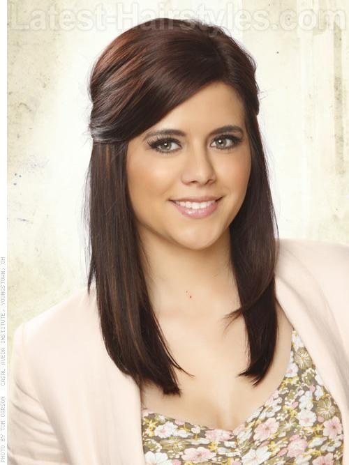 Medium length hairstyles. Love!!