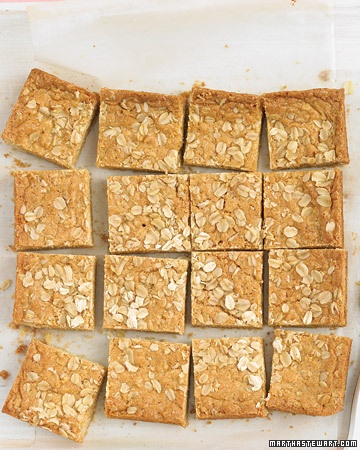 chewy oatmeal blondies #dessert