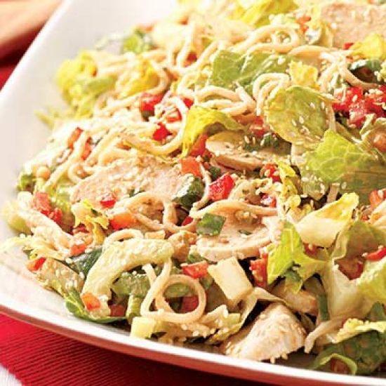 Sesame Chicken Cucumber Noodle Salad | KitchenDaily.com