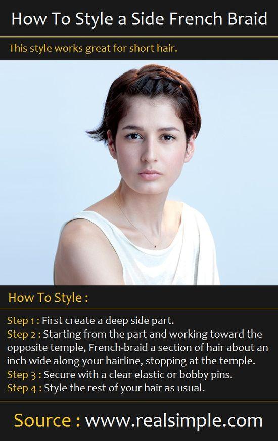 styling a side french braid