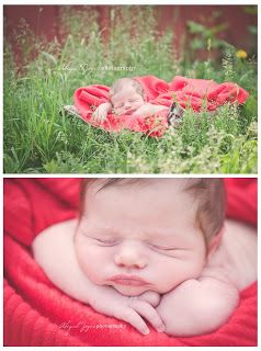 tips on outdoor newborn photography here!