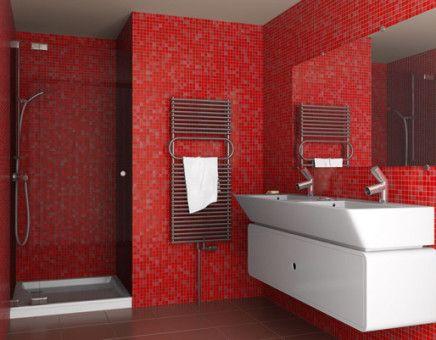 Amazing red bathroom design