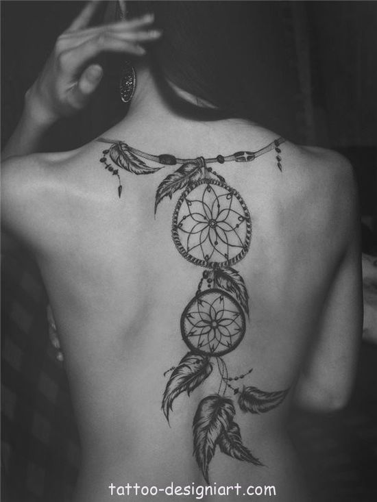 tattoo dreamcatcher idea tattoos art design style girls picture image www.tattoo-design...