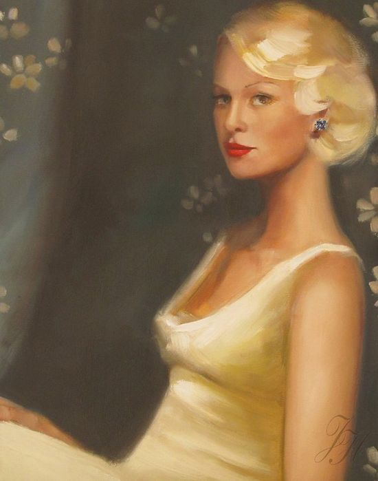 A Portrait Of Ms Frost Art Print by janethillstudio on Etsy, $26.00