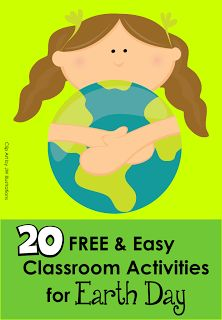 """Earth Day is April 22nd! Need some easy and FREE activities/printables? Pin this post!"""