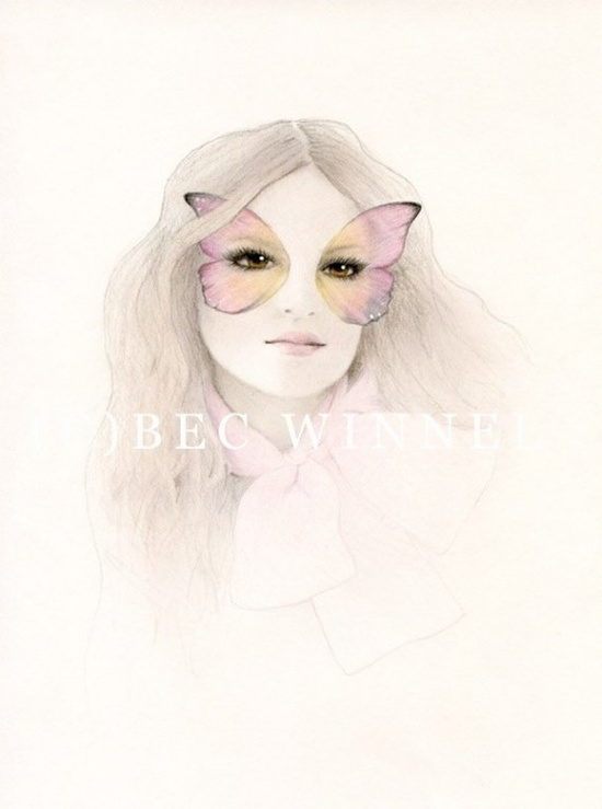 Flutterby Baby Limited Edition Print by becwinnel