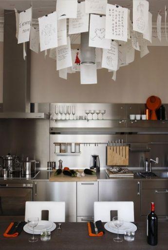 Modern stainless steel kitchen interior