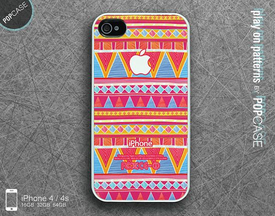 iPhone 4s case iPhone 4 case iPhone 5 case iPhone 5s case iPhone 5c case - colorful aztec print on Etsy, £9.67