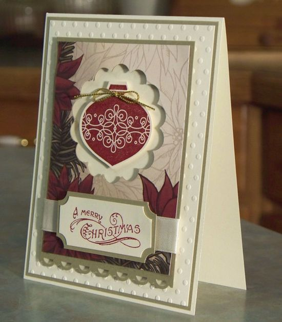 Handmade Card  Stampin Up CONTEMPO CHRISTMAS by WhimsyArtCards, $4.00
