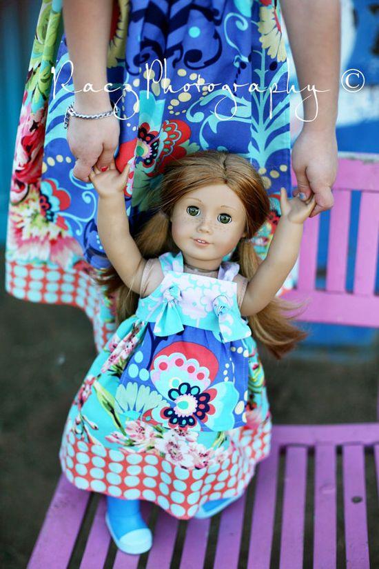 Matching dress american girl doll dress www.littlewellies...